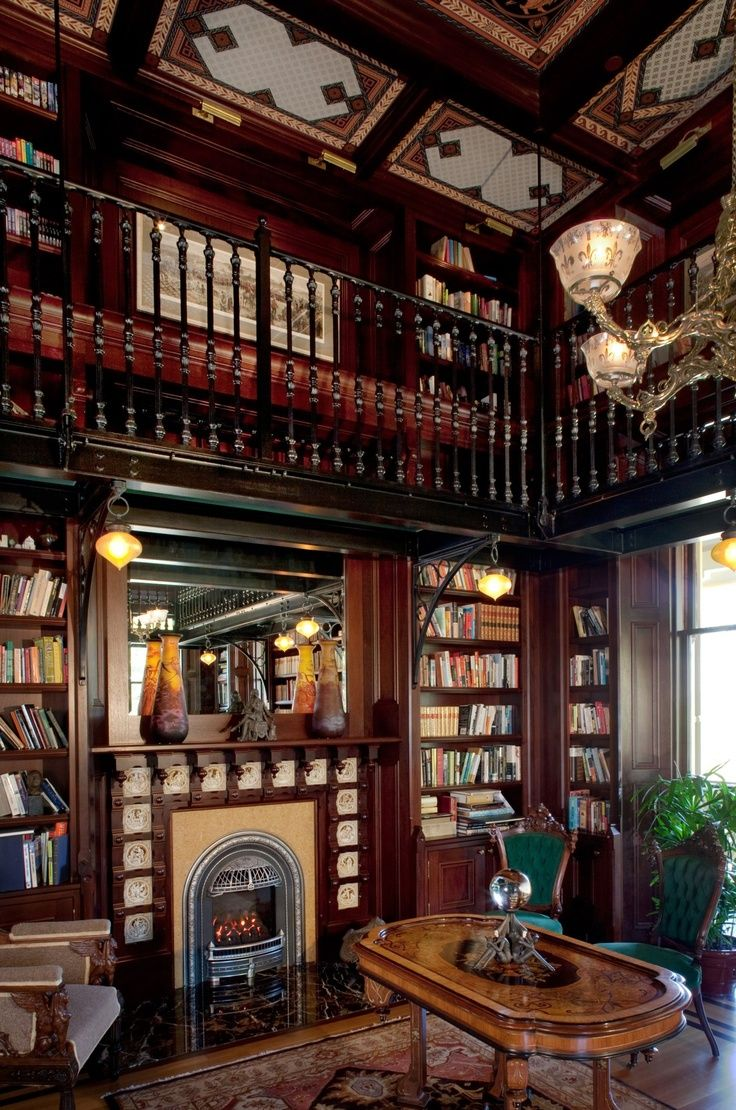 Victorian Victorian library My dream house Pinterest