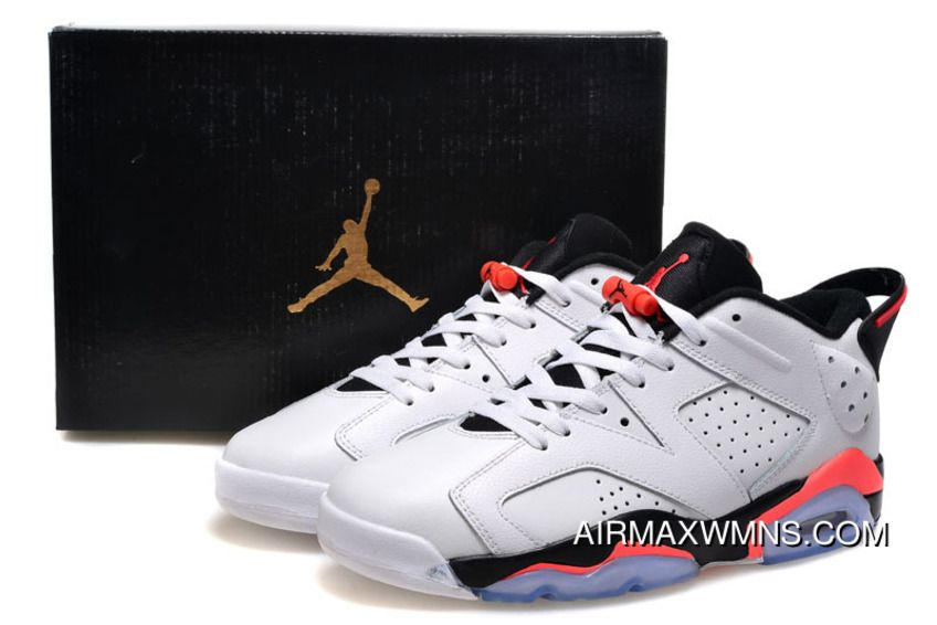 best sneakers 77002 a66b1 Discount Womens Air Jordan 6 Low GS White Infrared