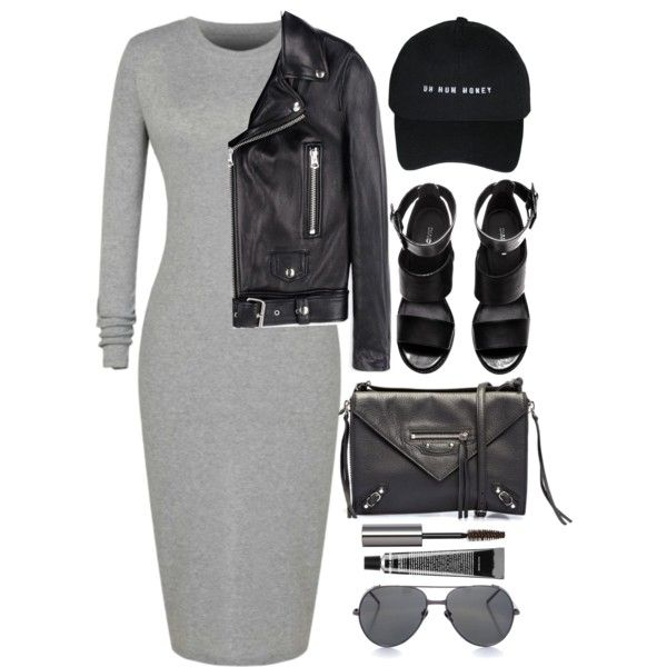 Two Shades by monmondefou on Polyvore featuring Acne Studios, H&M, Balenciaga, Linda Farrow, Bobbi Brown Cosmetics, David Jones, black and gray