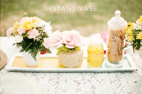 Quick tip, making an instant vase out of creative materials