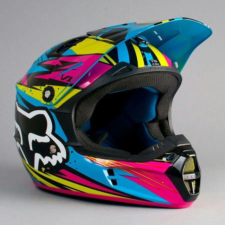 Colorful Fox Helmet Dirt Bike Gear Dirt Bike Helmets Motocross