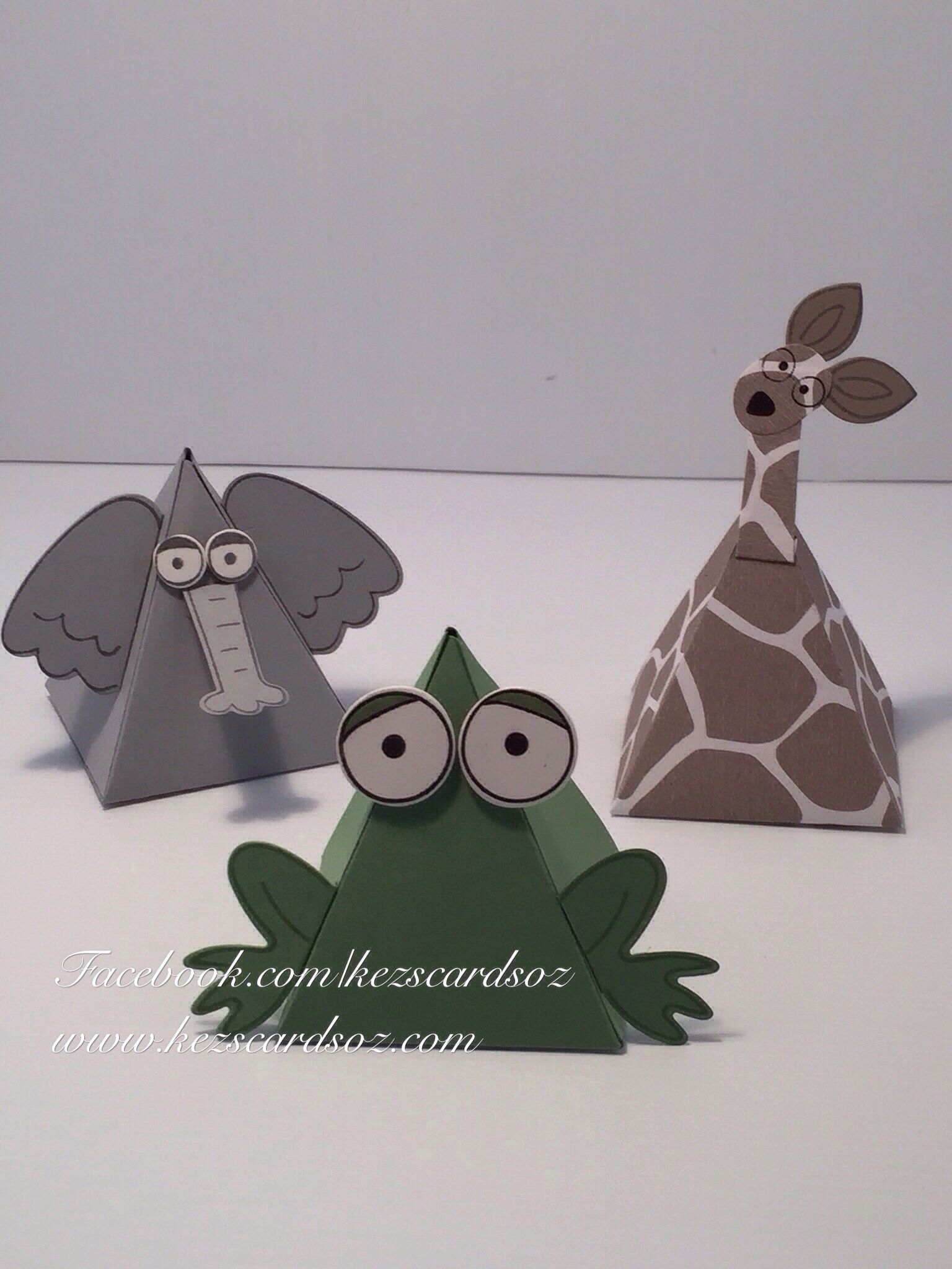 Pyramid pals by Stampin' Up! Gorgeous for kids parties instead of lolly bags!