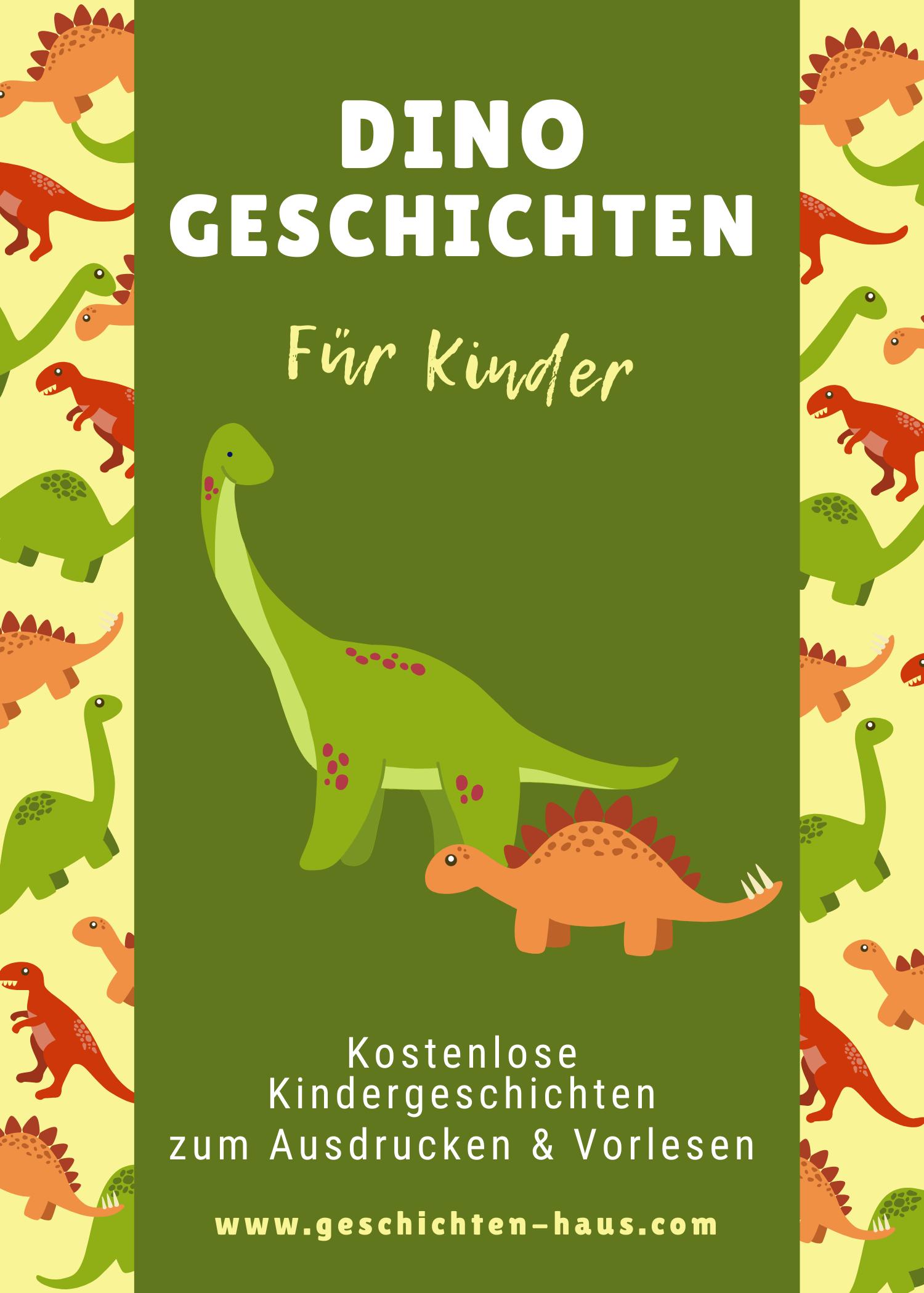 Dinosaurier Geschichten für Kinder (zum Ausdrucken)
