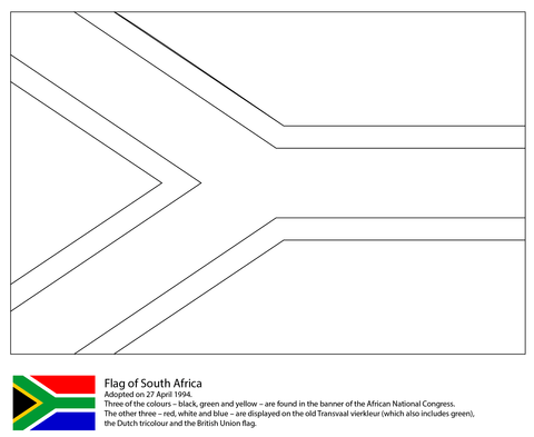 Flag Of South Africa Coloring Page Free Printable Coloring Pages South African Flag Heritage Day South Africa South Africa