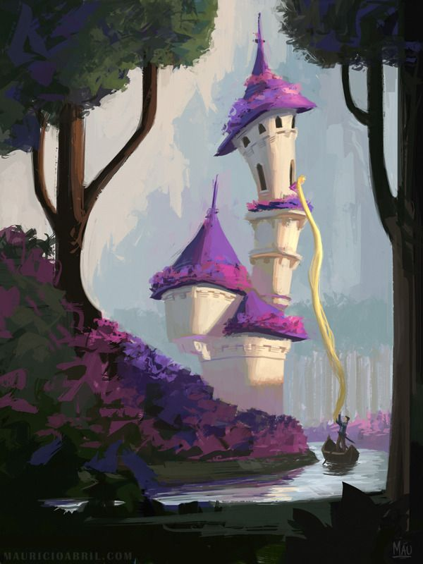"mauricioabril: "" Speed painting that became a Rapunzel concept. """