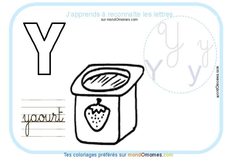 Coloriage alphabet lettre y education alphabet et - Abecedaire a colorier ...