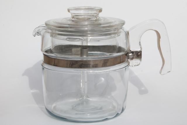 Vintage Pyrex Flameware 7756 B Stovetop Percolator Clear Glass Coffee Pot Vintage Coffee Pot Pyrex Vintage Coffee Pot