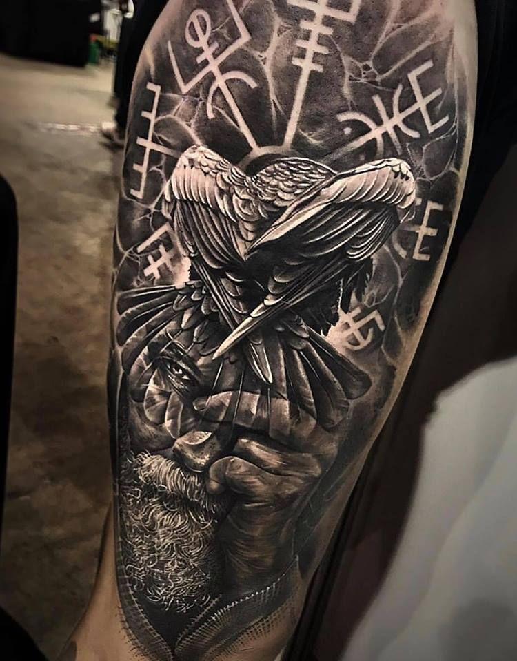 Raven Viking Tattoo: Tatuajes Vikingos, Tatuaje