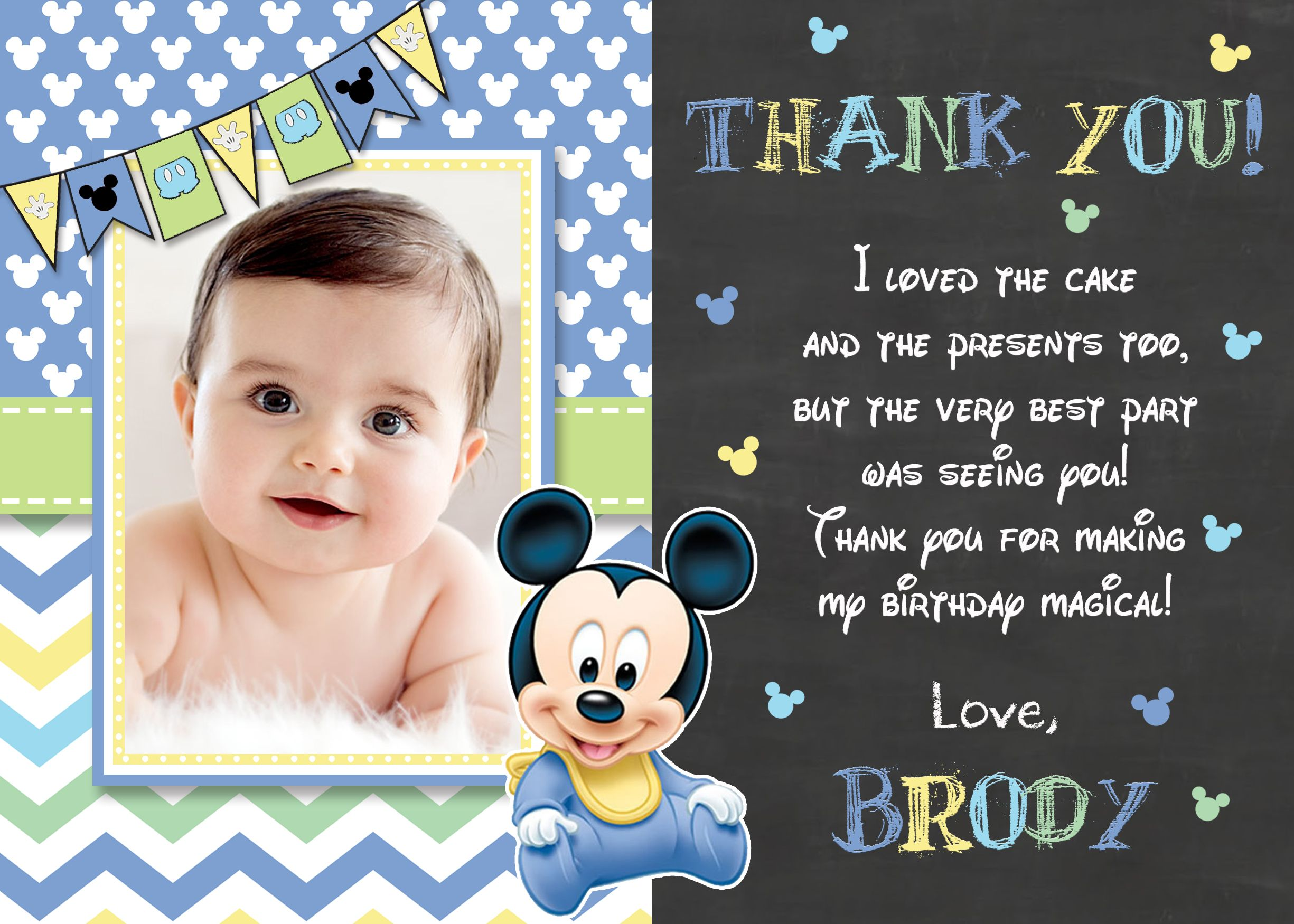 Pin by Party Express Invitations Inc on Disney Mickey Mouse – Baby Mickey Mouse 1st Birthday Invitations