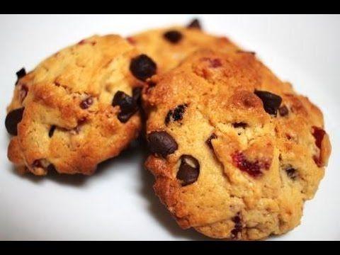 Receta: Cookies de fresas, pasas y pepitas de chocolate - Dulces de Estr...