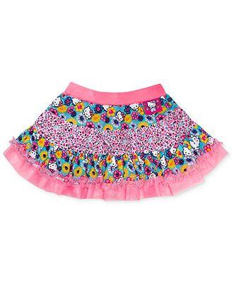 abc13dc294 Hello Kitty Little Girls' Mixed-Print Tutu Skirt | Hello Kitty for ...