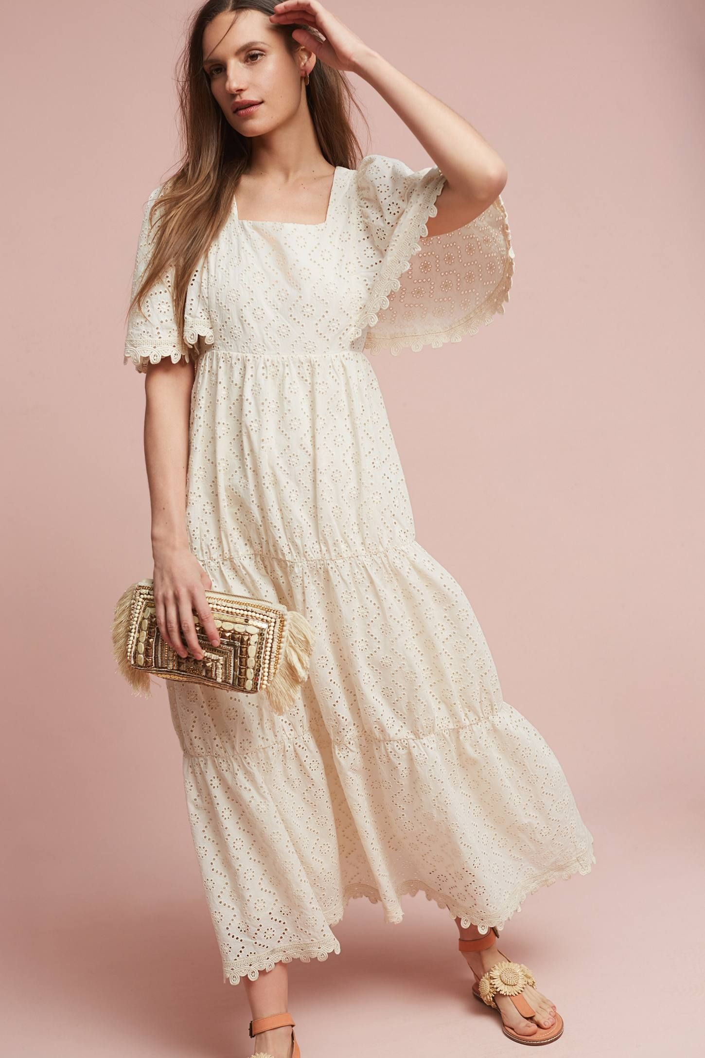 French connection summer ranch batwing dress