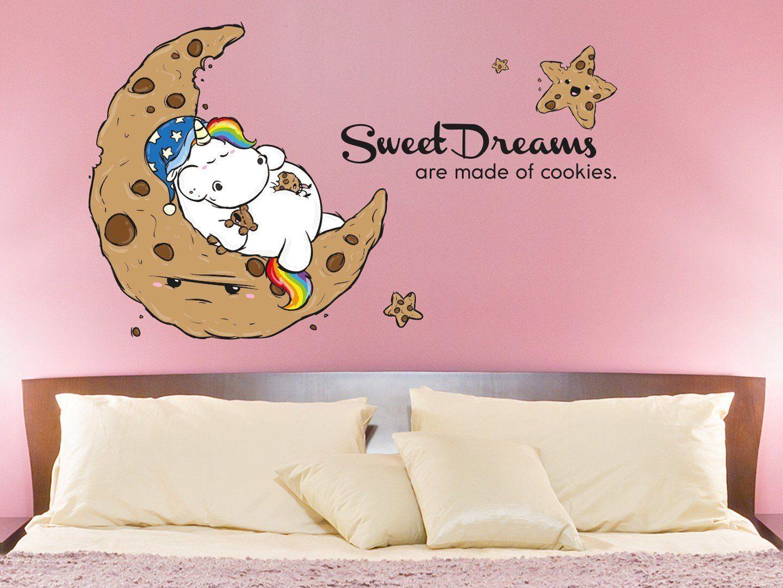 Schön Wandtattoo Einhorn Dekoration Von Unicorn   Sweet Dreams Are Made Of