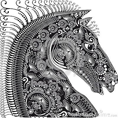 Decoration Animal Ornament, Horses Head - Download From Over 40 Million High Quality Stock Photos, Images, Vectors. Sign up for FREE today. Image: 51075697