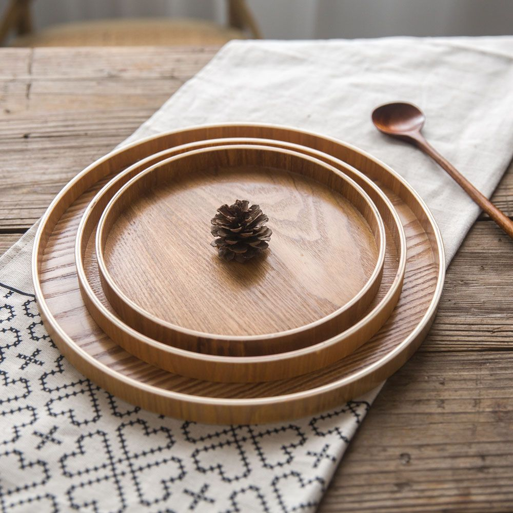 restaurant server cover letter%0A Cheap wooden tray  Buy Quality tray wooden tray directly from China food  serving plate Suppliers  Nazhi Japanese Round   Size Natural Wood Tray  Hotel