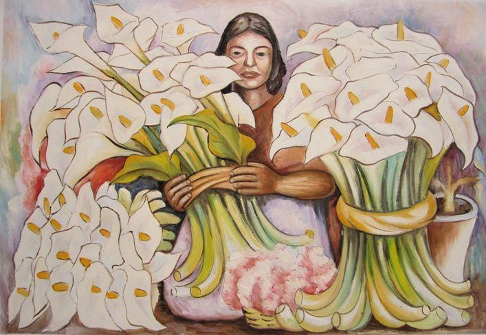 Risultati immagini per quadri con calle fiori pittori famosi | ஐ ...