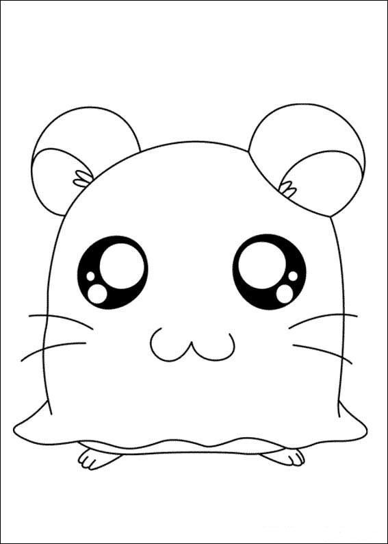 Hamtaro Coloring pages for kids. Printable. Online Coloring. 4 ...