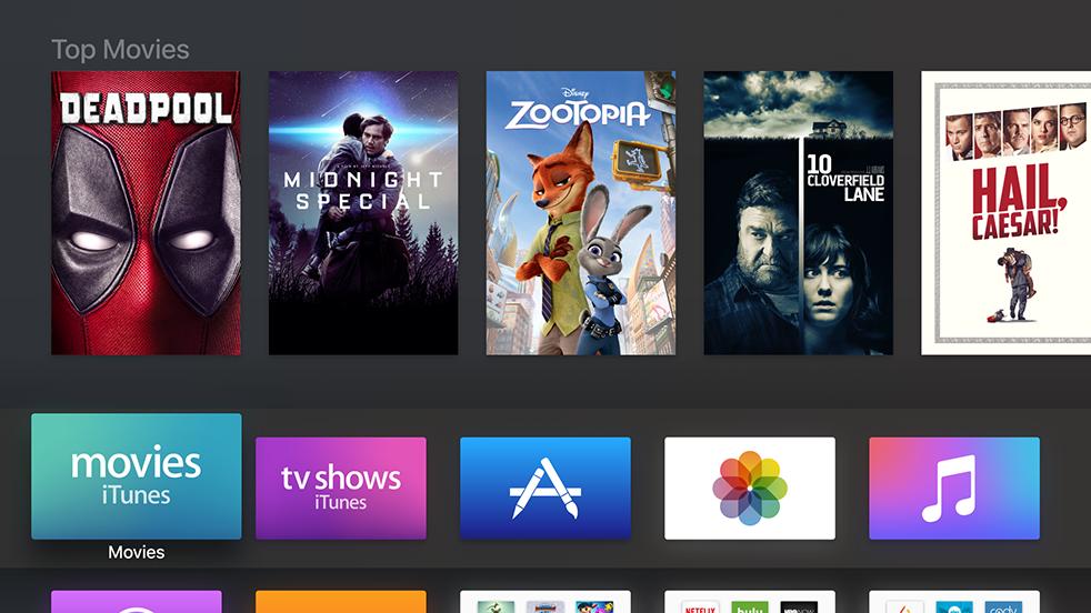 Apple TV screen showing Extra Dark / Dark Texture Visual