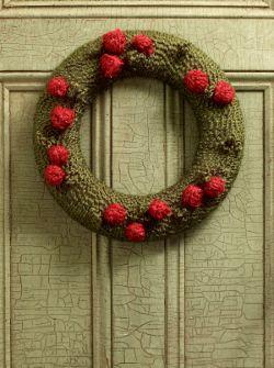Photo of Yarn Wreath with Berries