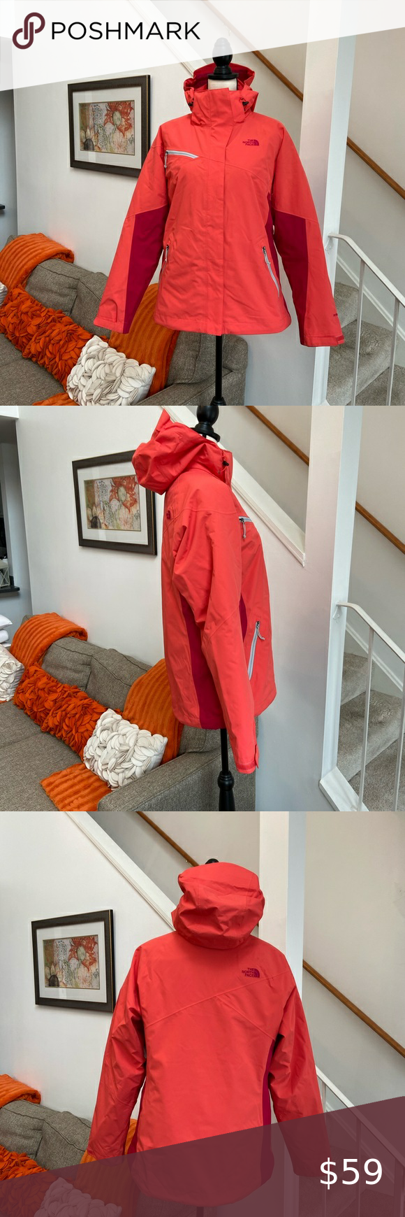 North Face 2 In 1 Jacket Guc The North Face 2 In 1 Jacket Size Large Comes From A Smoke And Pet Free Home Only Jackets Clothes Design Red Leather Jacket [ 1740 x 580 Pixel ]