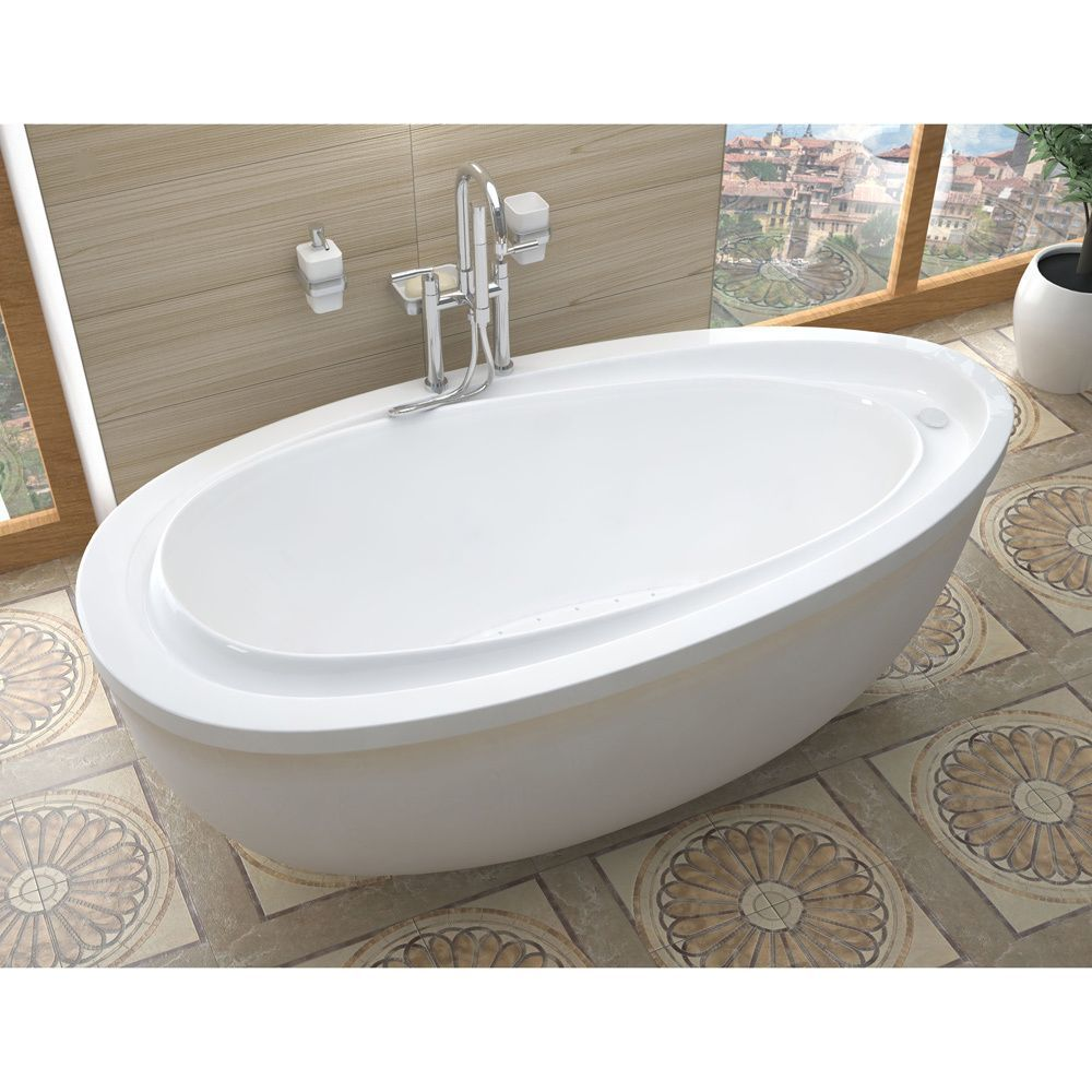 Atlantis Whirlpools Breeze 38 x 71 Oval Freestanding Air Jetted ...