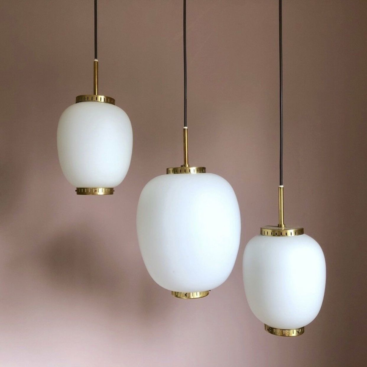 Vintage Glas Pendant Lamps From The 1960s Designed By Bent Karlby For Lyfa Not In Production Anhanger Lampen Skandinavisches Design Designklassiker
