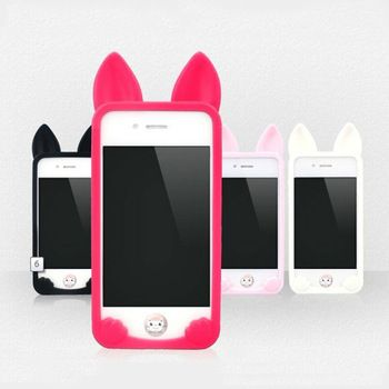 Korea dimensional koko cat  case for Apple phone iphone5 5s 5g phone protective shell TPU Silicone Case