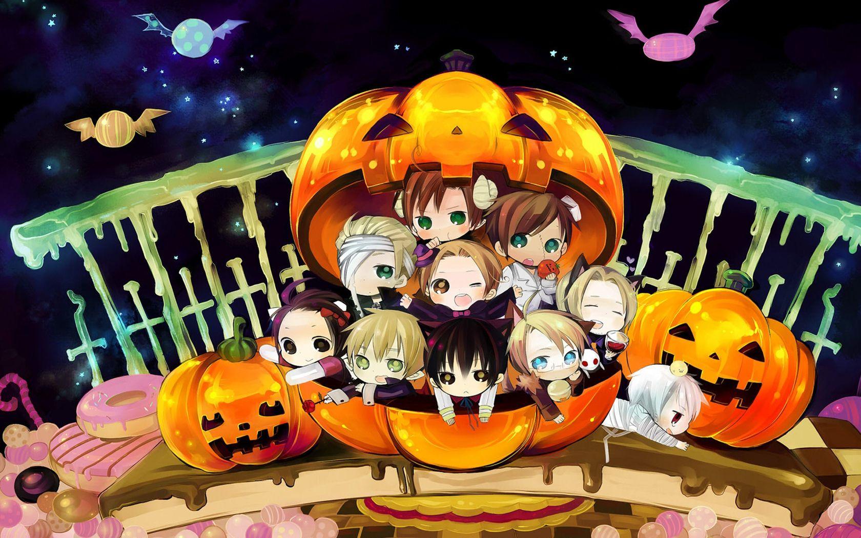 Vacances Halloween Fond D Ecran Anime Halloween Anime Hetalia Chibi