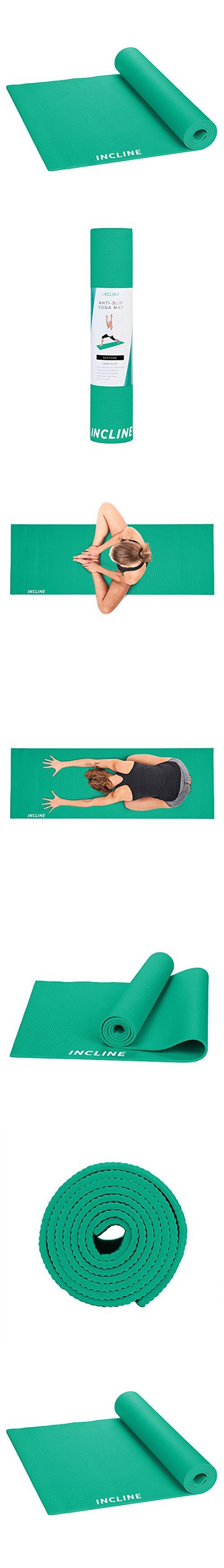 Incline Fit High Density Slip Resistant Yoga Mat Seafoam