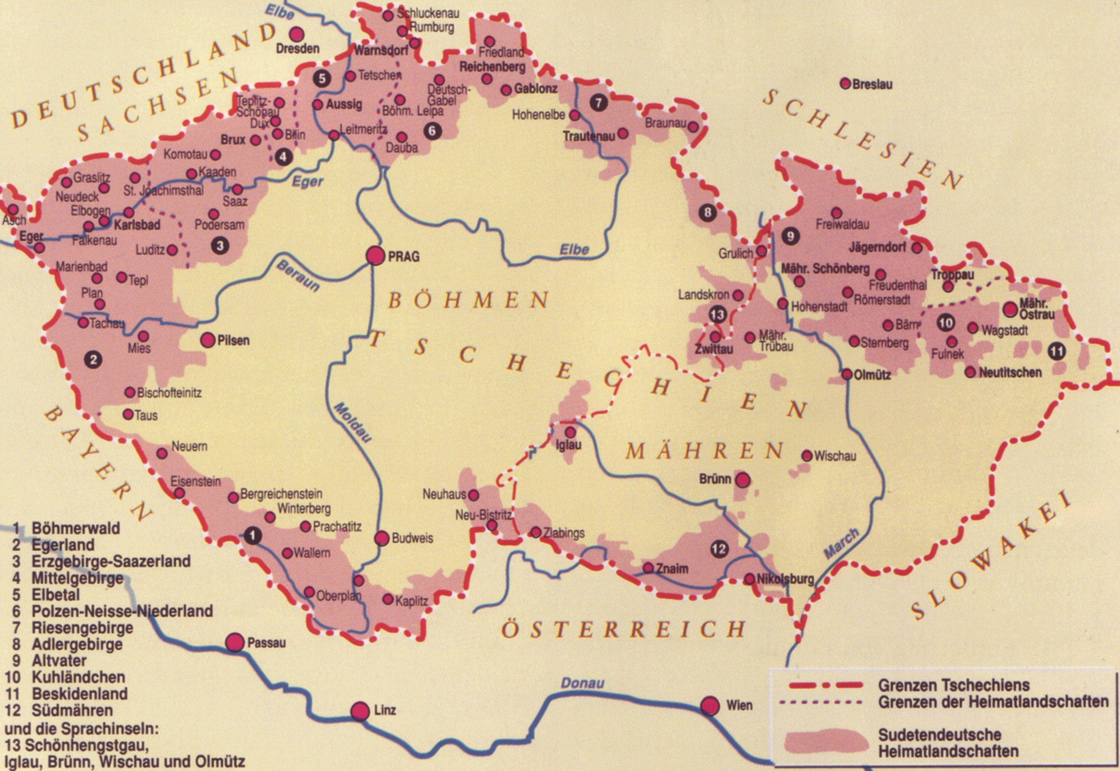 Ahnenforschung Sudetenland
