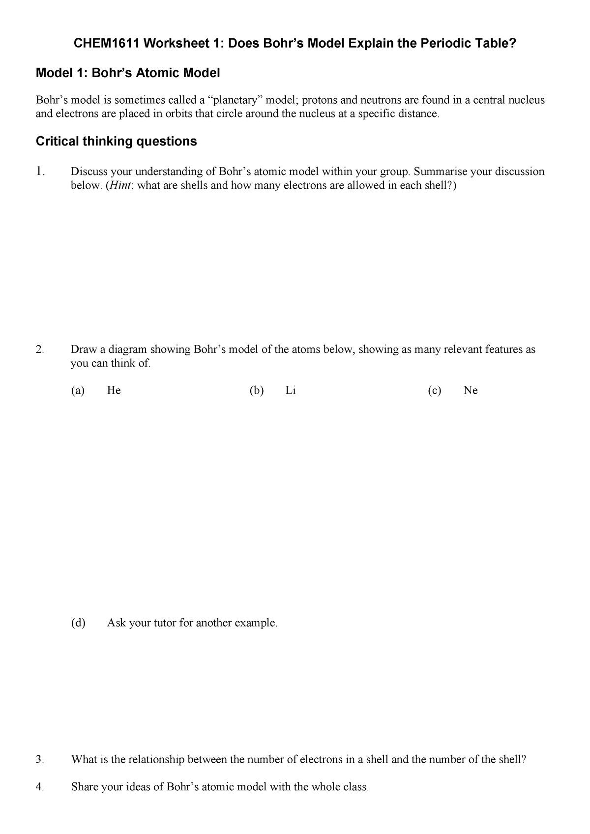 Memorable Chapter 1 Introduction To Chemistry Worksheet Answers