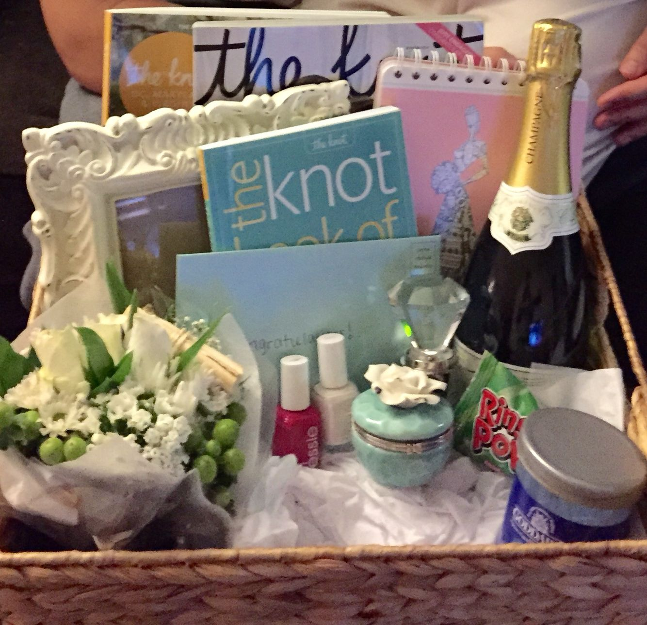 Engagement Basket I created for my best friend! 2 wedding