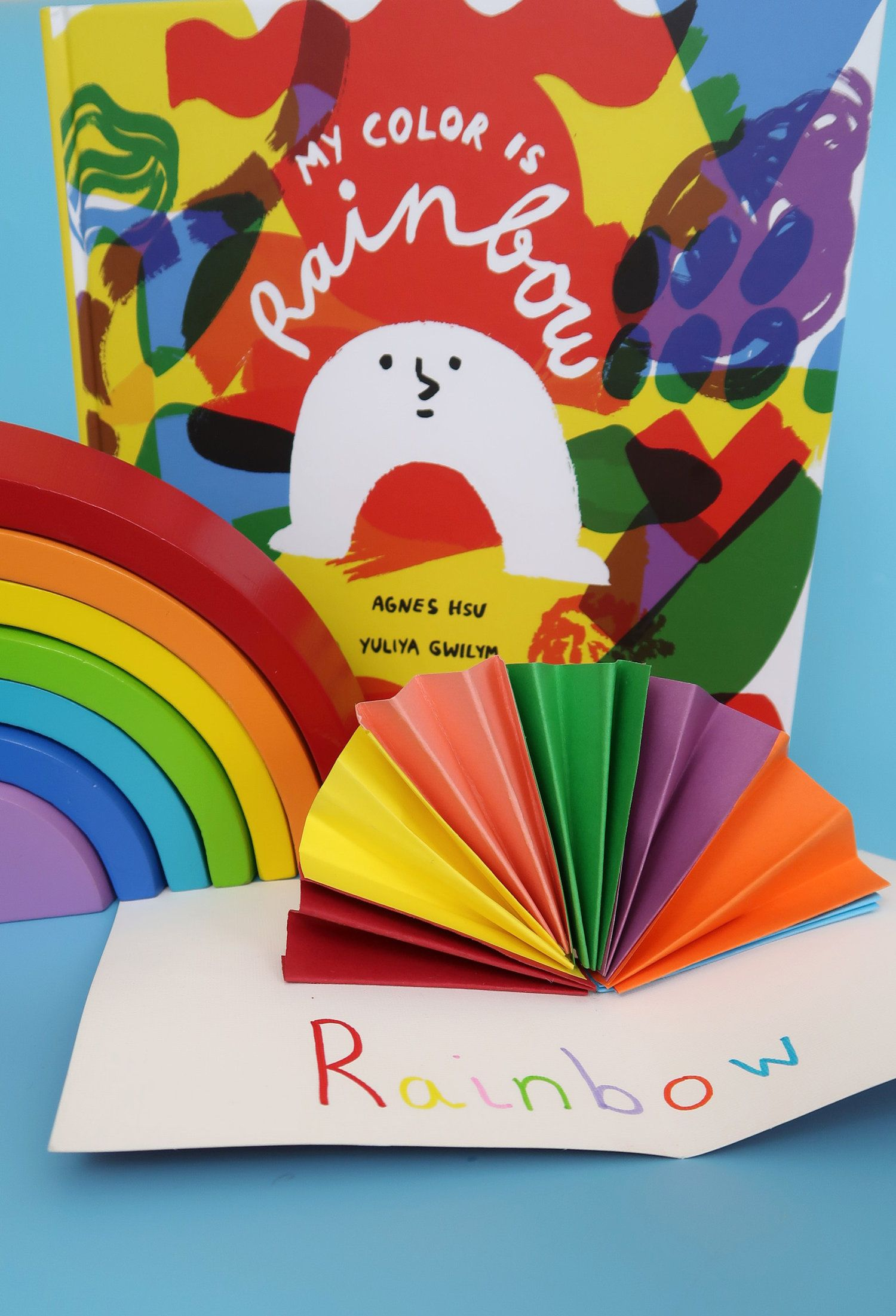 161f99ab186 Rainbow Pop Up Card Inspired by My Color Is Rainbow Children's book about  love and acceptance