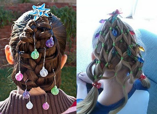 Cute Yet Crazy Christmas Tree Hairstyles