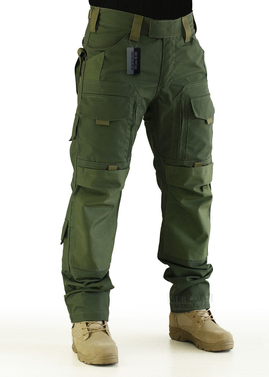 6dc23be546 Amazon.com : ZAPT Tactical Molle Ripstop Combat Trousers Army  Multicam/A-TACS LE Camo Pants for Men : Sports & Outdoors