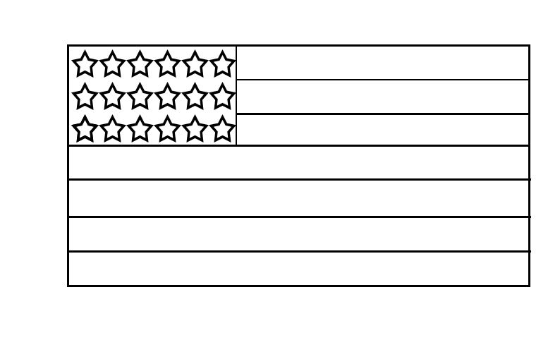 American Flag Coloring Pages Free Printable American Flag