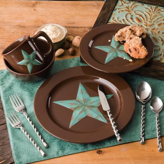 Turquoise Star Ceramic Dish Set