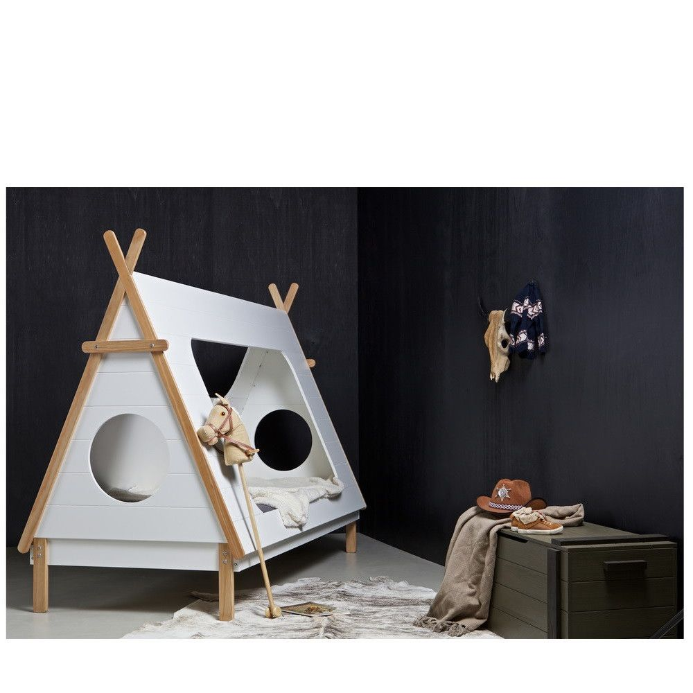 lit enfant bois avec sommier tipi majad. Black Bedroom Furniture Sets. Home Design Ideas