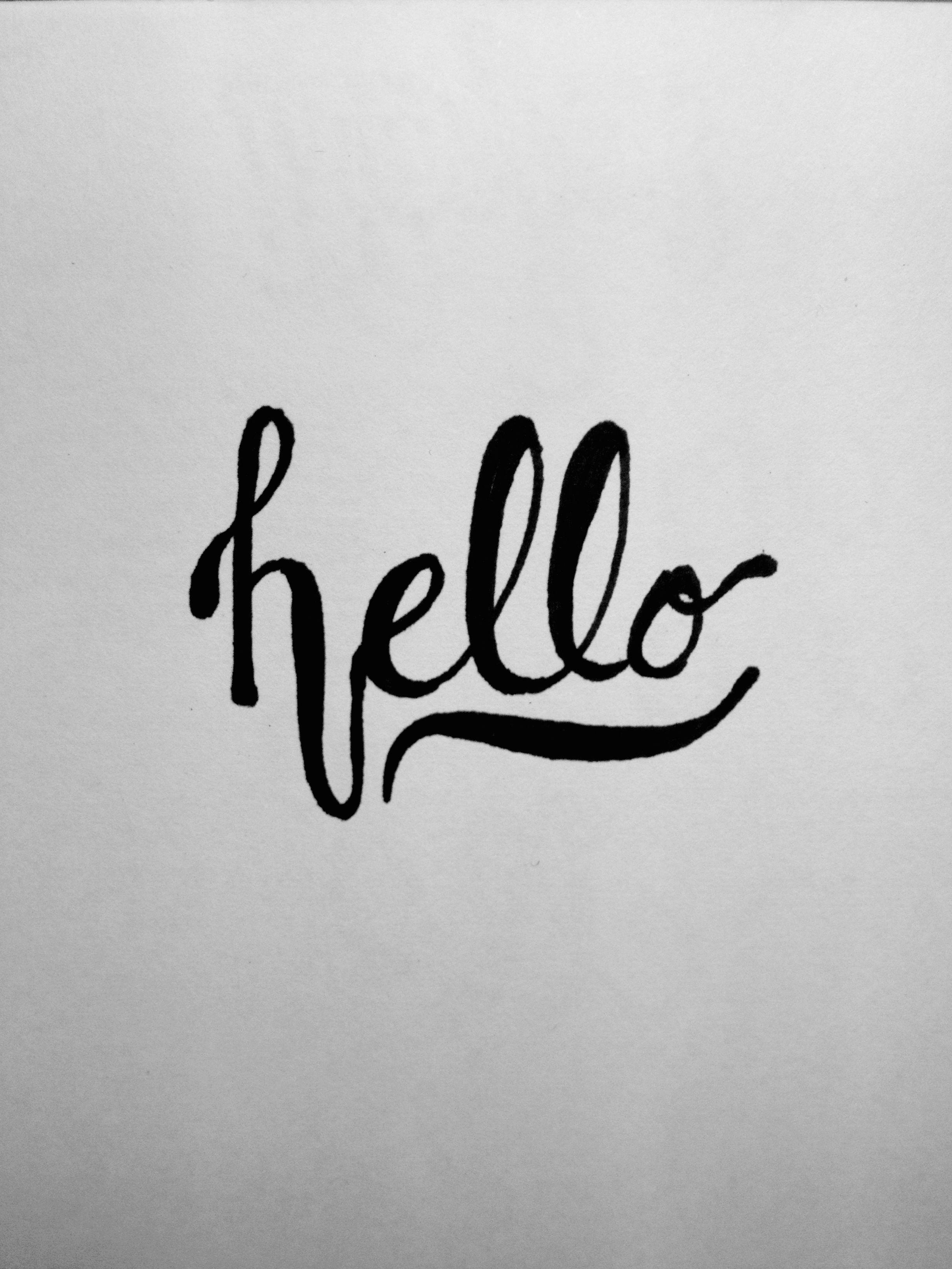 Hello. Hand Lettering Type.