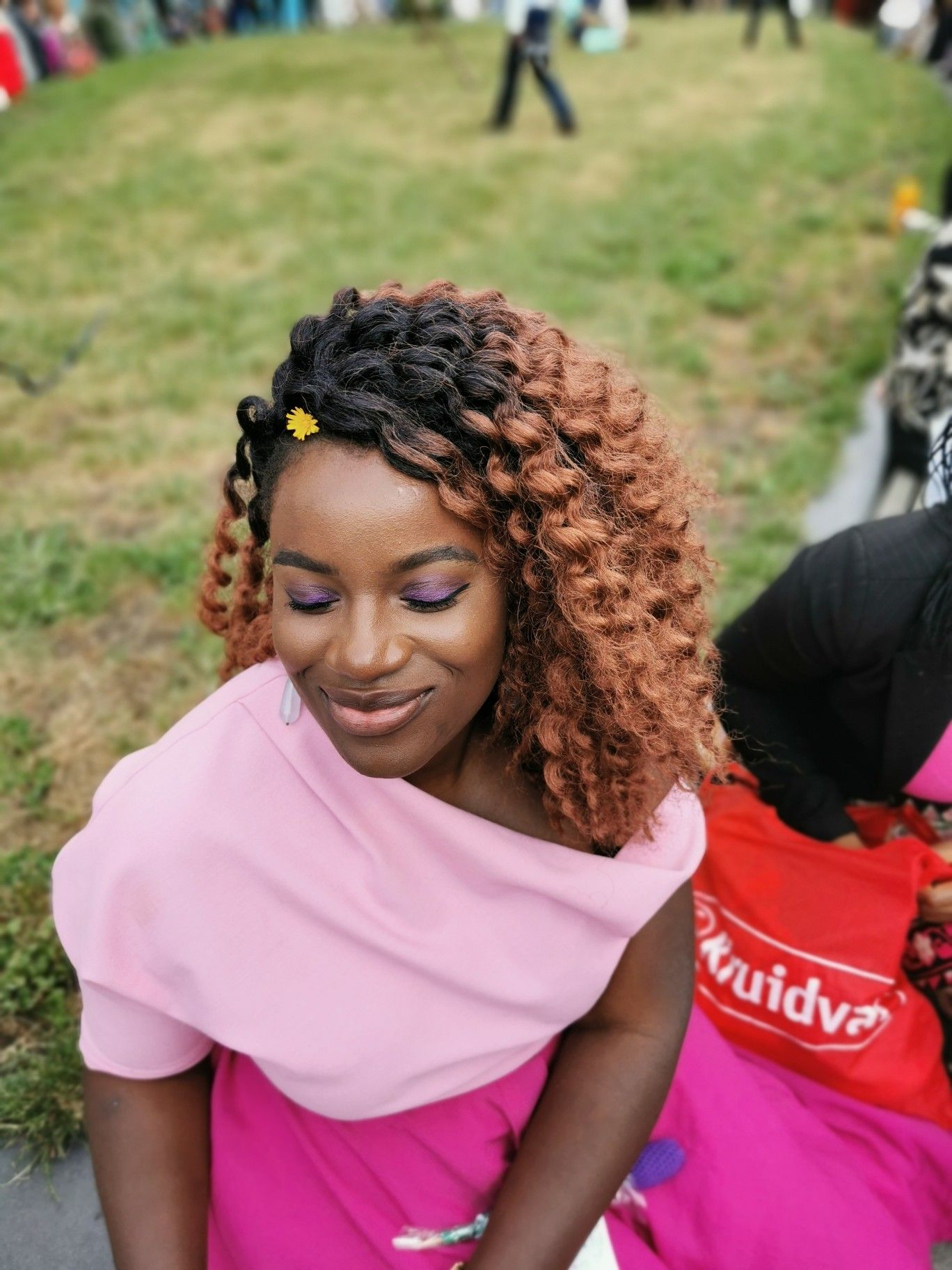 Braids#naturalhaircare #naturalhairevents #twistout #naturalbeauty… # fulani Braids prom Curly Lover