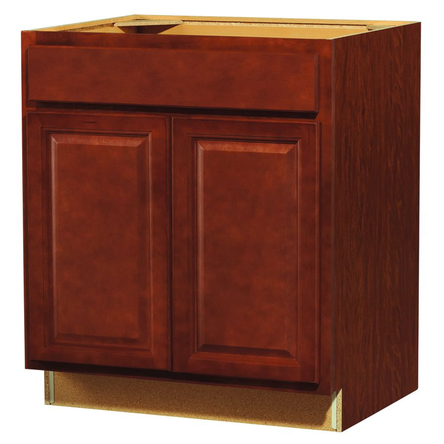 Shop Kitchen Classics Cheyenne 30 In W X 35 In H X 23 75 In D Finished Saddle Birch Door And Drawer Base Cabinet At Base Cabinets Cabinet Kitchen Cabinet Doors