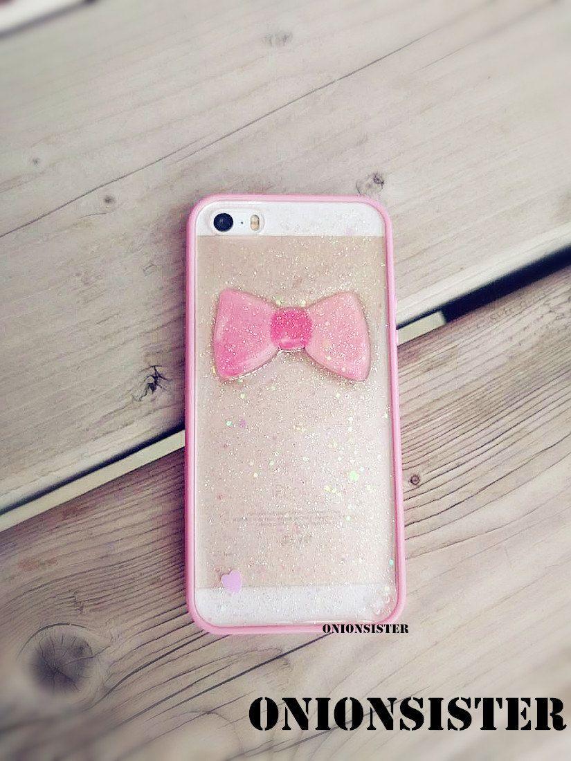 big sale bed68 afe66 Bright Pink Resin Phone Case Glitter iPhone Case   Glitter iPhone ...
