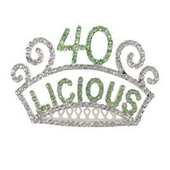 1fbe447cf0 40th Birthday Tiara Forty-licious Hair Accessories | Holy Moly I'm ...