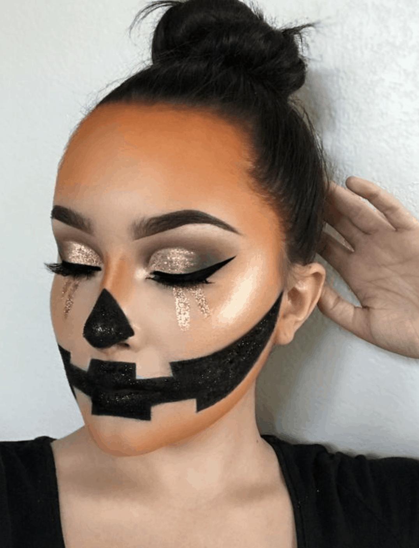 11 pumpkin makeup Halloween ideas