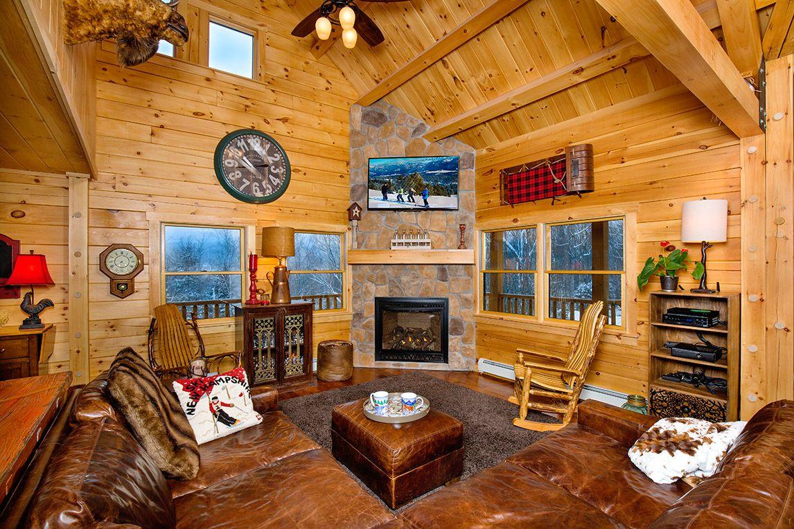 The Birchwood log home floor plan is a modern design integrating ...