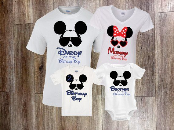 Disney Birthday Shirt Family Shirts Mickey Minnie Da