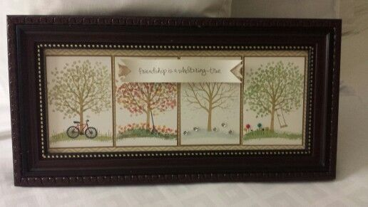 Frame I made for my room mate at Leadership. So glad she liked it! Sheltering Tree by Stampin' Up!