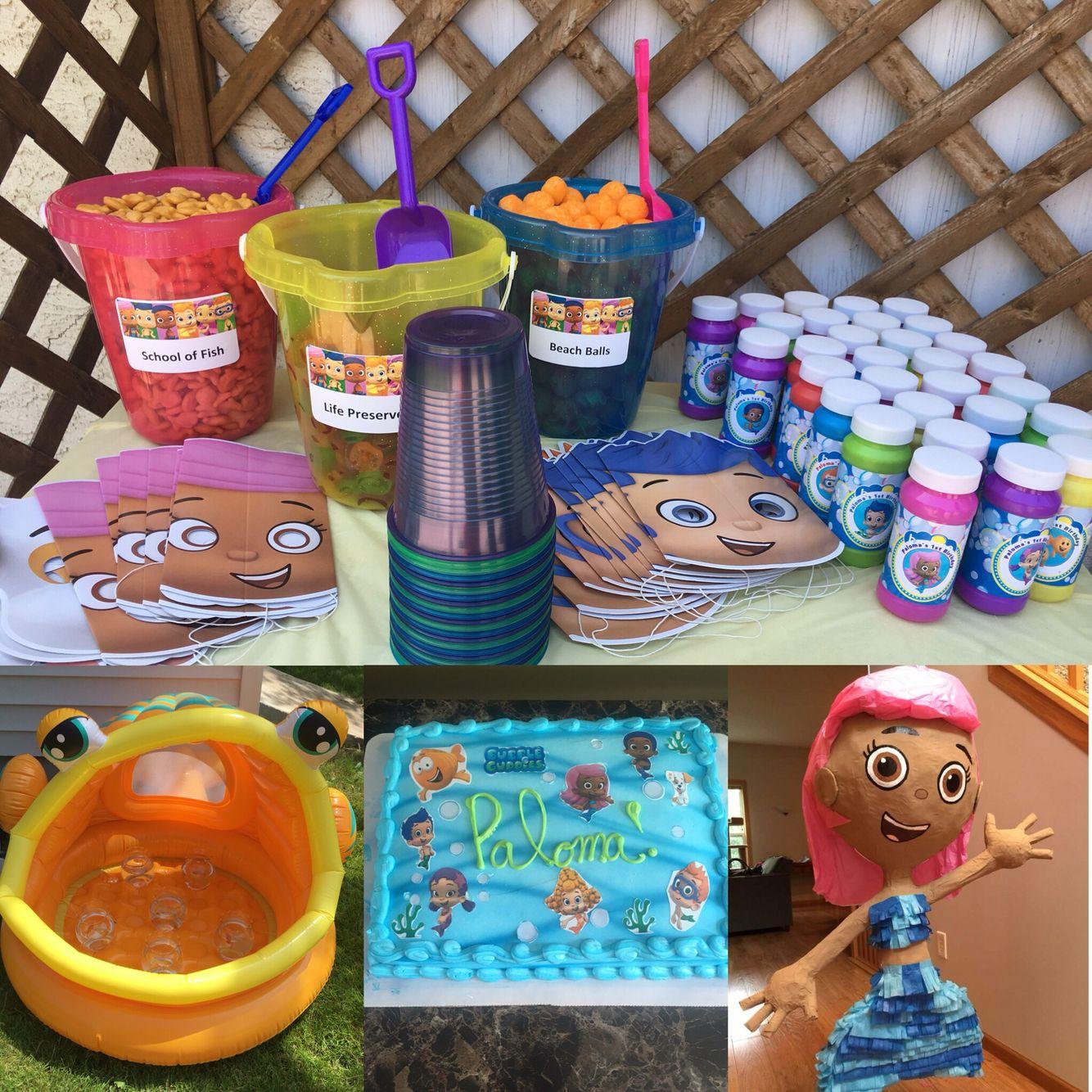 Bubble Guppies 1st Birthday Party....custom cake, beach