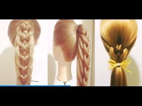 5 Peinados Faciles Y Rapidos Y Bonitos Con Trenzas (P6) - YouTube