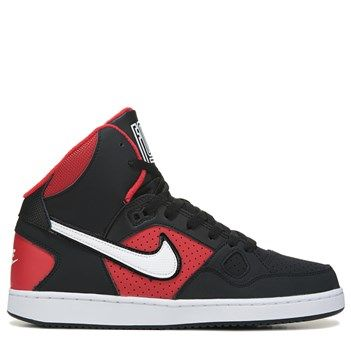 4be9c458c7852 Nike Men s Son of Force Mid Top Sneakers (Black White Red)